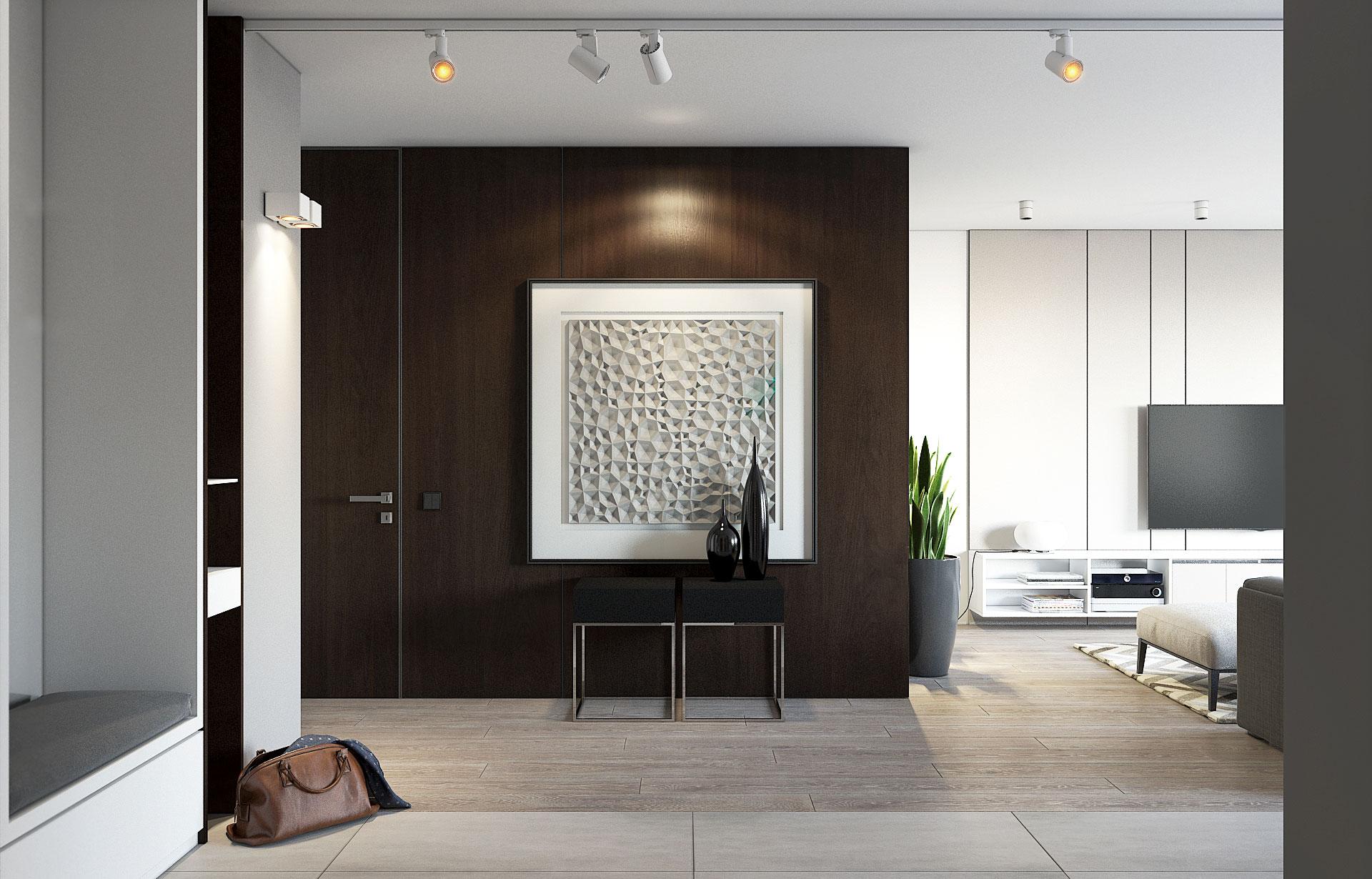 Чистые линии | Дизайн квартиры-студии / Минск /