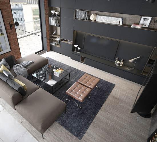 Дизайн-проект квартиры-студии в Дортмунде, Германия