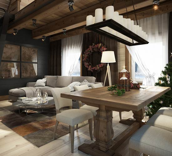 Проект реконструкции дома под Раковом, Миснкая область. Проект выполнен в стиле Шале