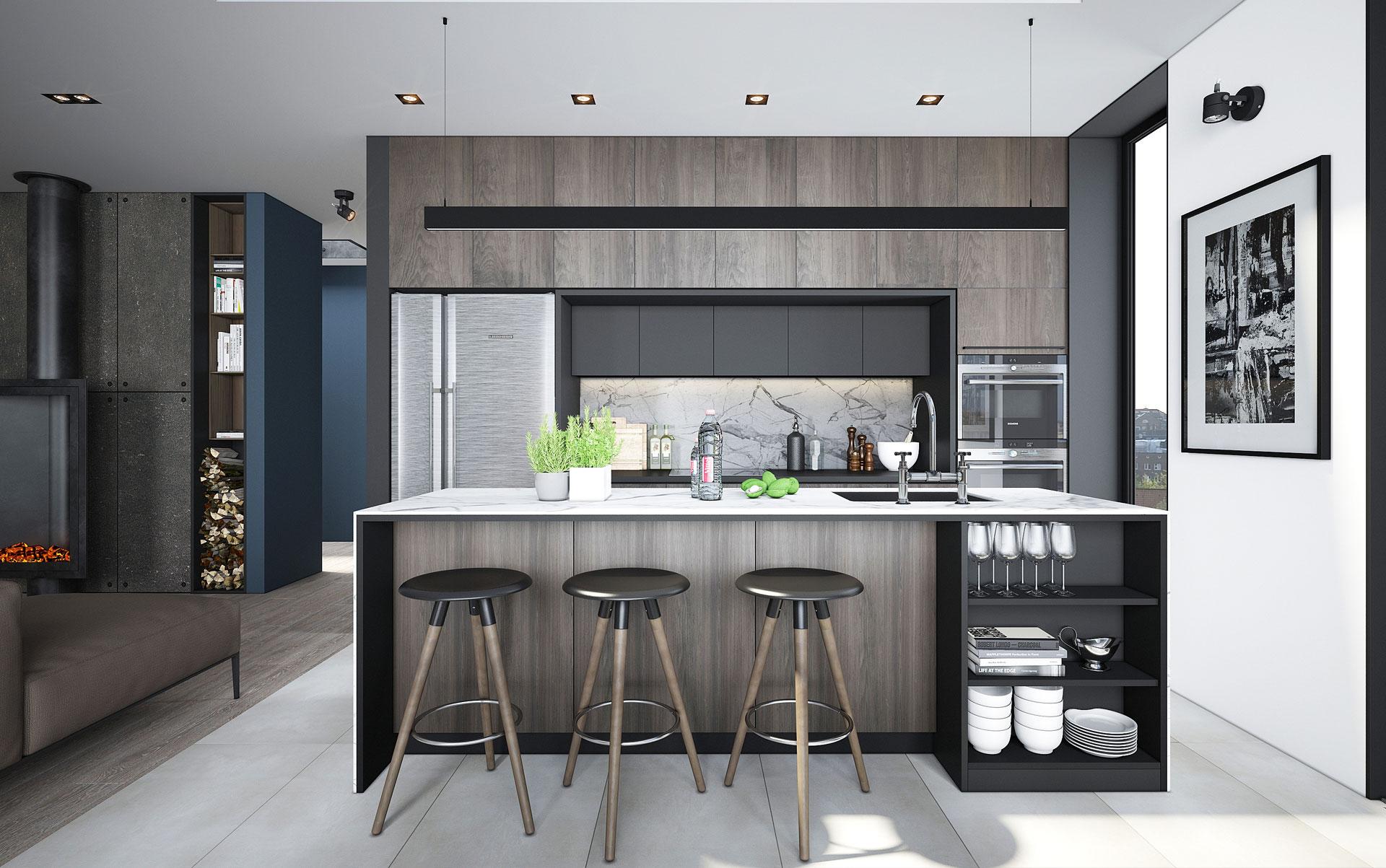Интерьер в стиле «Soft loft» | Дизайн интерьера квартиры-студии в стиле лофт / Дортмунд, Германия /