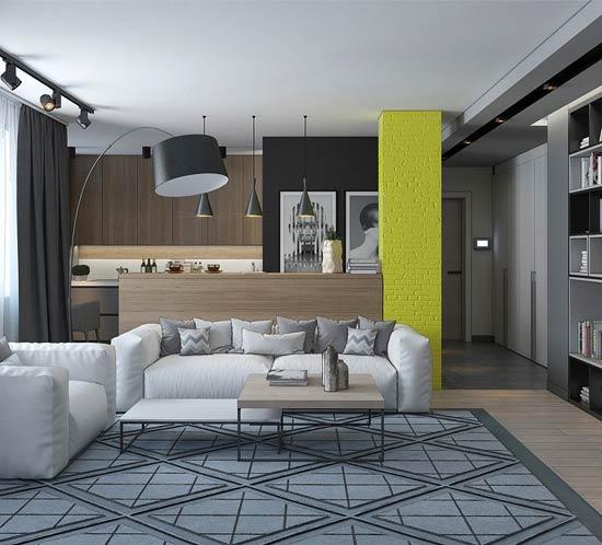 Дизайн-проект квартиры-студии в стиле Лофт в Каменной Горке